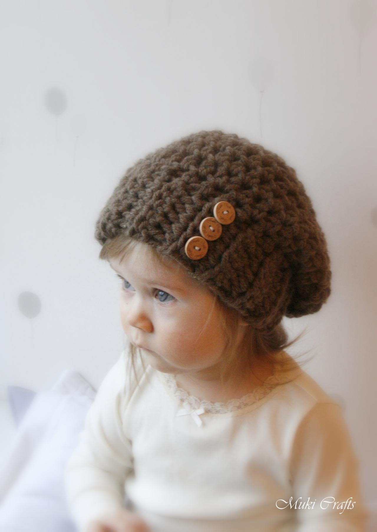 Crochet Slouchy Hat Pattern For Child : CROCHET PATTERN Basic Slouchy Hat Addison (baby, Todddler ...