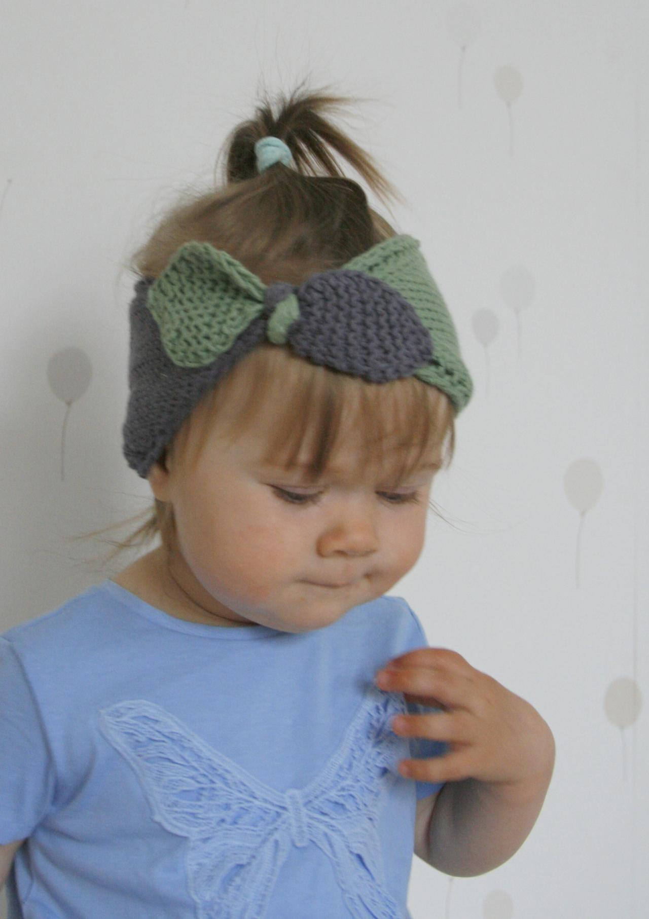 Knitting Pattern For Headband With Bow : KNITTING PATTERN Bow Headband Headwrap Rita on Luulla