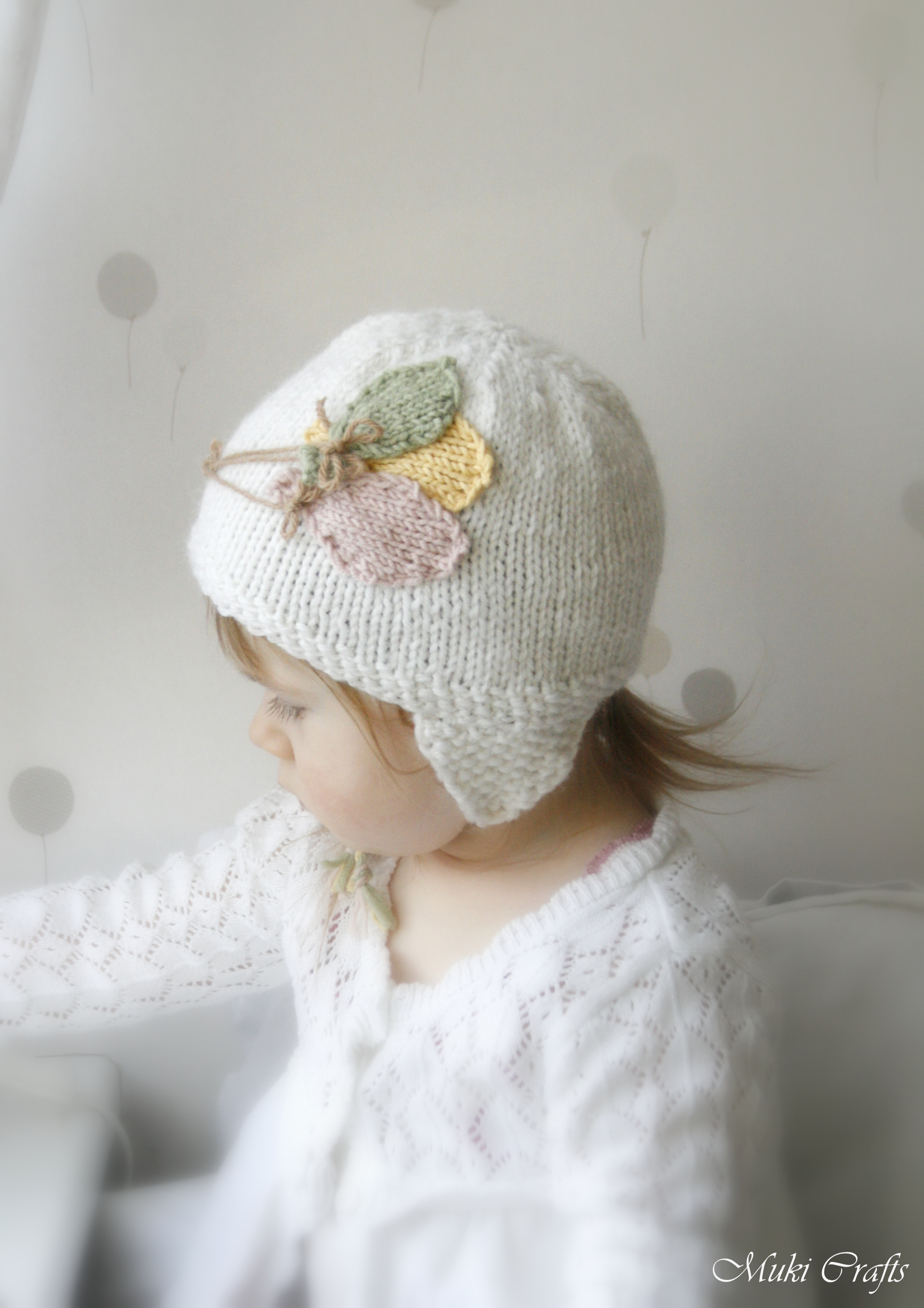 KNITTING PATTERN Newborn Baby Toddler Earflap Hat Balloons on Luulla