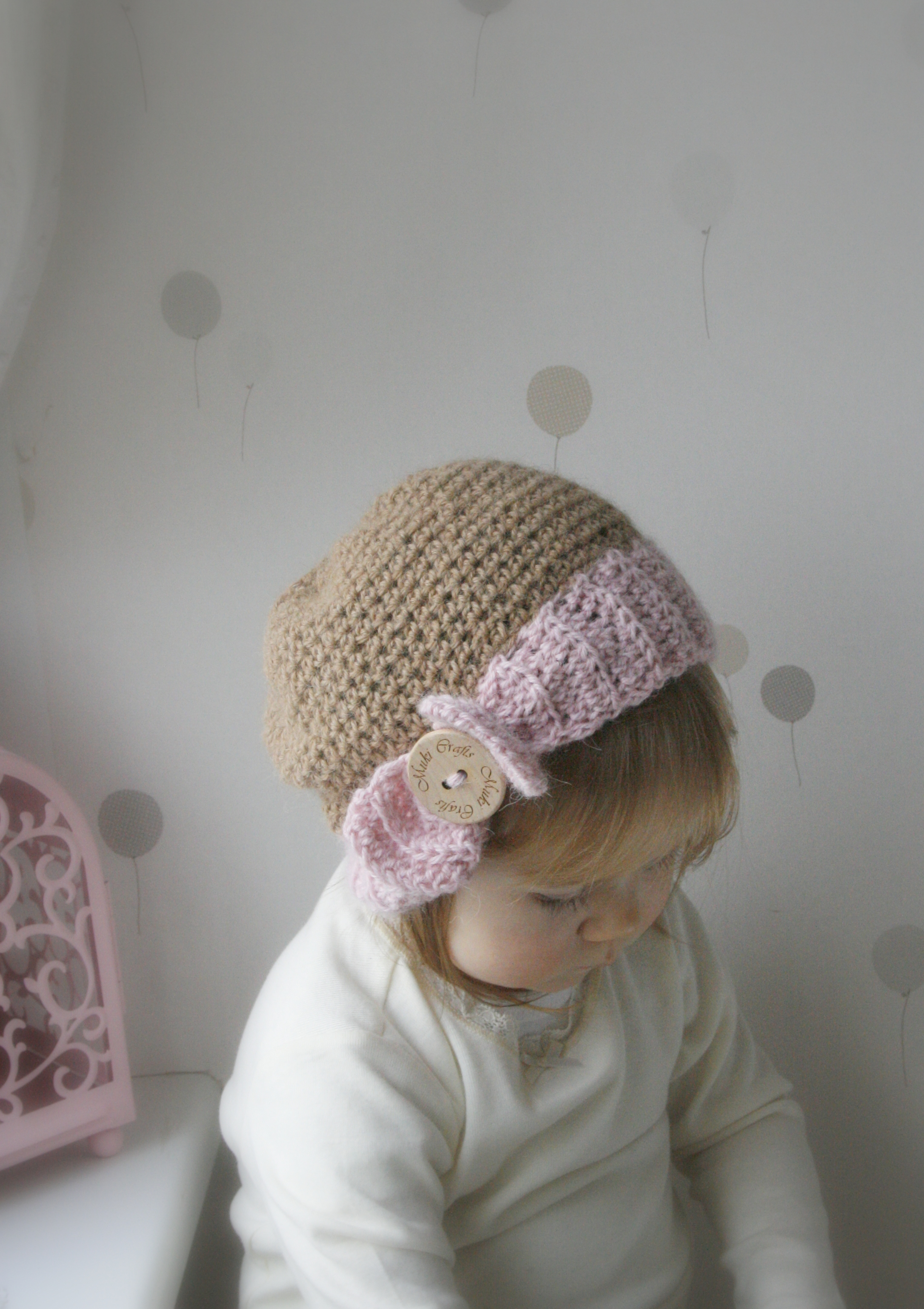 Crochet Baby Hat Pattern With Bow : CROCHET PATTERN Bow Hat Pippa Newborn, Baby, Todddler ...